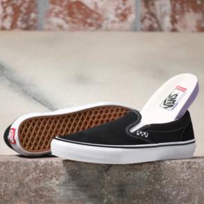 VANS SKATE SLIP-ON BLACK/WHITE
