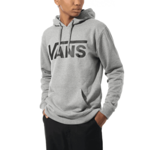 VANS CLASSIC PO HOOD II CEMENT HEATHER BLACK