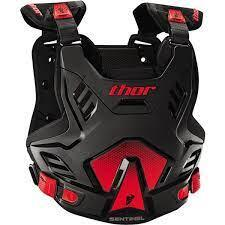 THOR SENTINEL GP ARMOUR ADULT BLACK RED