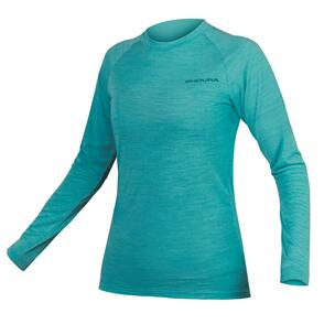 ENDURA BAABAA BLEND L/S BASE LAYER WOMENS PACIFIC BLUE