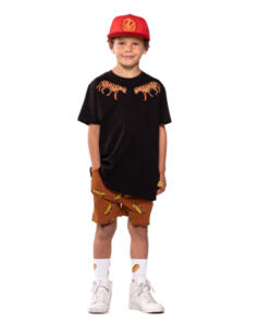 BAND OF BOYS EMBROIDERED TIGERS OVERSIZE TEE BLACK