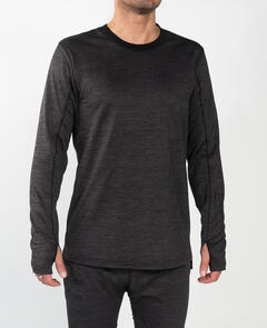 ENDEAVOR SNOWBOARDS 21 SURPLUS THERMAL (WAFFLE) HEATHER BLK TOP & PANT