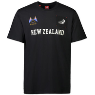 EMIRATES TEAM NZ NEW ZEALAND T-SHIRT BLACK