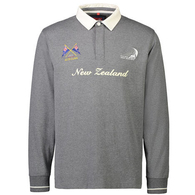 ETNZ NZL LONGSLEEVE RUGBY JERSEY CHARCOAL