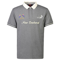 ETNZ NZL SHORTSLEEVE RUGBY JERSEY CHARCOAL