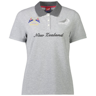 ETNZ WOMEN'S NZ POLO CHARCOAL