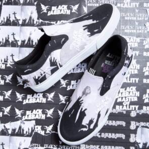LAKAI X BLACK SABBATH OWEN VLK BLACK/WHITE CANVAS