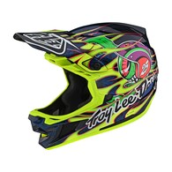 TROY LEE DESIGNS 2020 D4 AS COMPOSITE EYEBALL FLO YELLOW