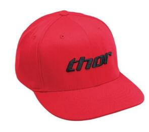 THOR HAT BASIC RED BLACK CURVED BILL