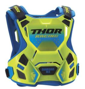 THOR CHEST PROTECTOR GUARDIAN MX FLO GREEN BLUE