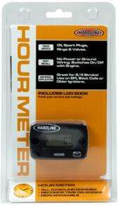 HARDLINE HOUR METER FOR ALL PETROL ENGINES TRACK SERVICE EASY INSTALL UNIVERSAL