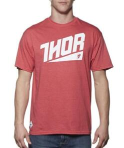 THOR TEE S/S ASCEND RED HEATHER