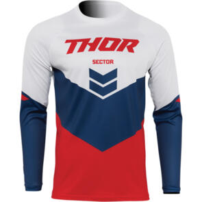THOR 2022 SECTOR YOUTH CHEVRON JERSEY RED/NAVY