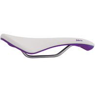 FABRIC WOMENS SCOOP GEL ELITE WHITE PURPLE CRO-MO NYLON