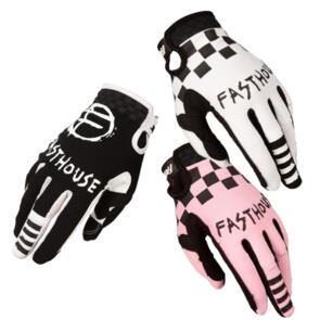 FASTHOUSE YOUTH SPEED STYLE PUNK GLOVES BLACK/WHITE/PINK