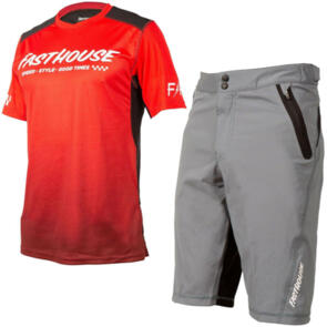 FASTHOUSE 2021 YOUTH ALLOY SLADE TEE + CRISSLINE SHORTS