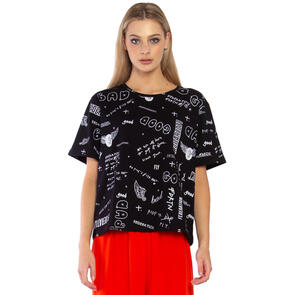 FEDERATION WOMENS STORY TEE - COLLECTION BLACK