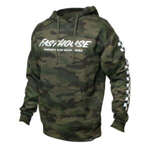 FASTHOUSE LOGO HOODED PULLOVER CAMO