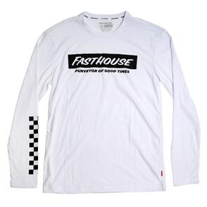 FASTHOUSE BRINK LONG SLEEVE TECH TEE WHITE