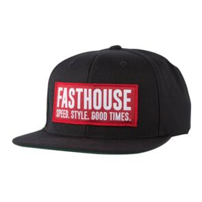 FASTHOUSE BLOCKHOUSE HAT BLACK/RED