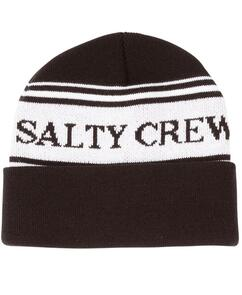SALTY CREW FISH AND FLAGS BEANIE BLACK