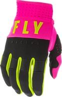 FLY RACING 2020 F-16 GLOVE (NEON PINK/BLACK/HI-VIS)