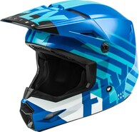 FLY RACING 2020 KINETIC THRIVE HELMET (YOUTH BLUE/WHITE)