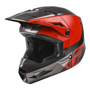 FLY RACING FLY 2021 KINETIC STRAIGHT EDGE ECE HELMET (YOUTH RED/BLACK/GREY)