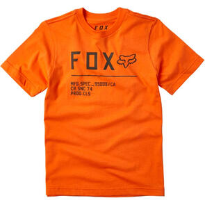 FOX RACING YOUTH NON STOP SS TEE [ORANGE FLAME]