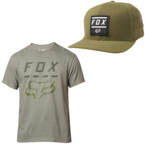 FOX RACING HIGHWAY SS TEE +  LISTLESS FLEXFIT HAT