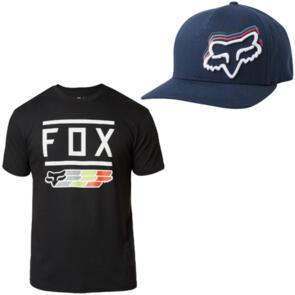 FOX RACING FOX SUPER SS TEE + DIMMER FLEXFIT HAT