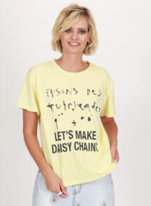 FEDERATION FRANKIE TEE - DAISY CHAINS BUTTER