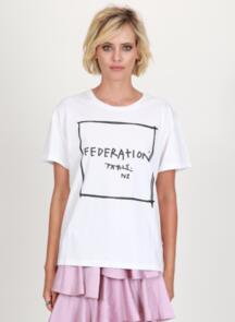 FEDERATION WOMENS FRANKIE TEE - NOT PARIS WHITE
