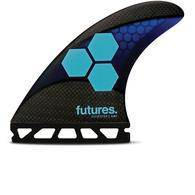 FUTURE FINS AM1 TECHFLEX TRI FIN BLACK BLUE - FUTURE - M