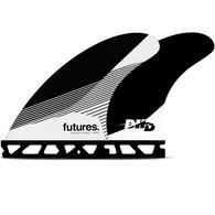 FUTURE FINS DHD HC TRI FIN BLACK WHITE - M