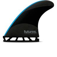 FUTURE FINS JJ 2 TECHFLEX TRI FIN BLACK BLUE - FUTURE - S