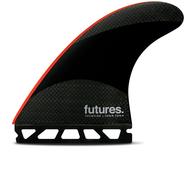 FUTURE FINS JJ 2 TECHFLEX TRI FIN BLACK RED - FUTURE - L