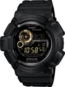 CASIO G-SHOCK DIGITAL MENS MASTER OF G MUDMAN BLACK X GOLD WATCH G-9300GB-1D