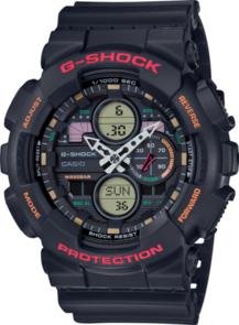 CASIO G-SHOCK 90'S MOTIF BLACK ANALOGUE WATCH GA140-1A4