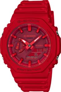 CASIO G-SHOCK CARBON CORE GUARD RED ANALOGUE/DIGITAL WATCH GA2100-4A
