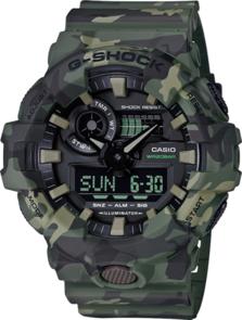 CASIO G-SHOCK GREEN CAMOUFLAGE MENS ANALOGUE/DIGITAL WATCH GA700CM-3A