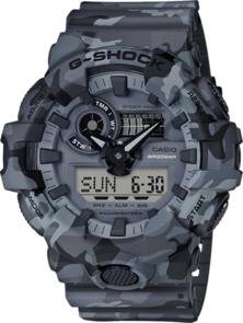 CASIO G-SHOCK GREY CAMOUFLAGE MENS ANALOGUE/DIGITAL WATCH GA700CM-8A