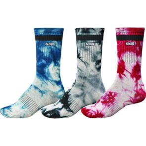 GLOBE ALL TIED UP SOCK 3 PACK ASSORTED