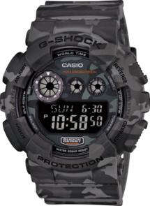 CASIO G-SHOCK DIGITAL MENS CAMOUFLAGE SERIES GREY WATCH GD120CM-8