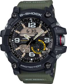 CASIO G-SHOCK BLACK/GREEN TWIN SENSOR MUDMASTER GG1000-1A3