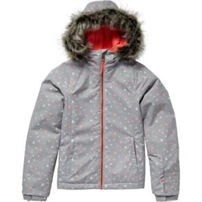 ONEILL SNOW 2020 YOUTH CURVE JACKET GREY AOP PINK