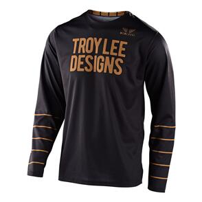 TROY LEE DESIGNS 2021 GP JERSEY PINSTRIPE BLACK / GOLD