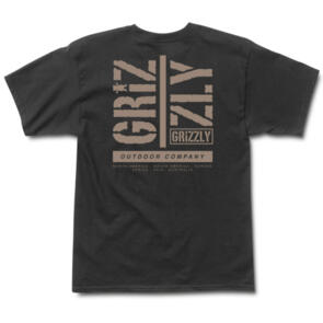 GRIZZLY FAMILY TIES SS TEE BLACK