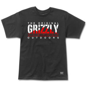 GRIZZLY ROCKY MOUNTAIN HIGH SS TEE BLACK