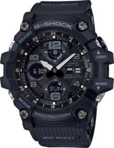 CASIO G-SHOCK ANALOGUE/DIGITAL MENS BLACK SOLAR MUDMASTER WATCH GSG-100-1A